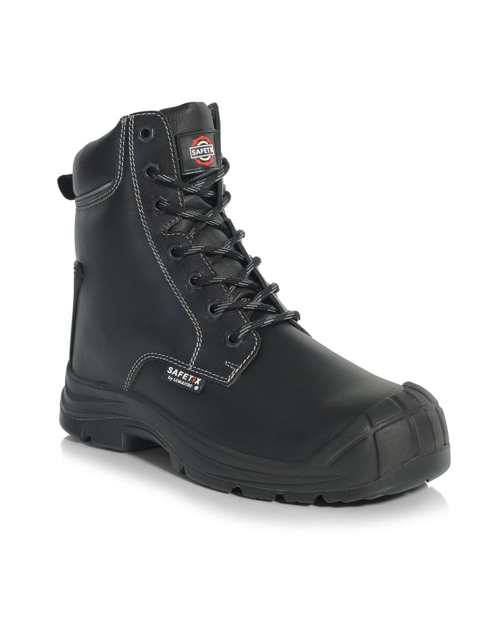 Columba - PU/Rubber Combat Boot c/w Cap + Zip