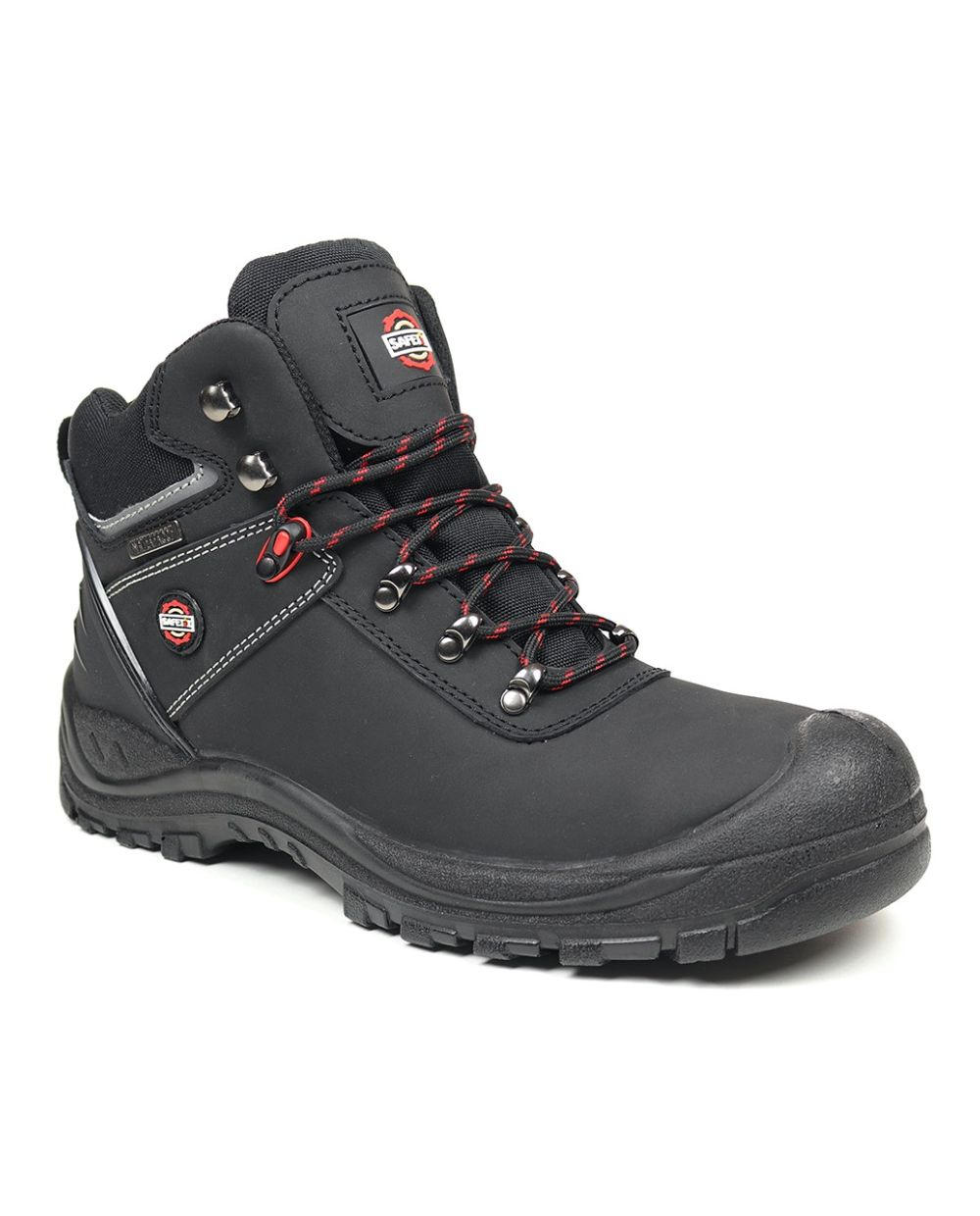 Carson Waterproof Safety Hiker-Black