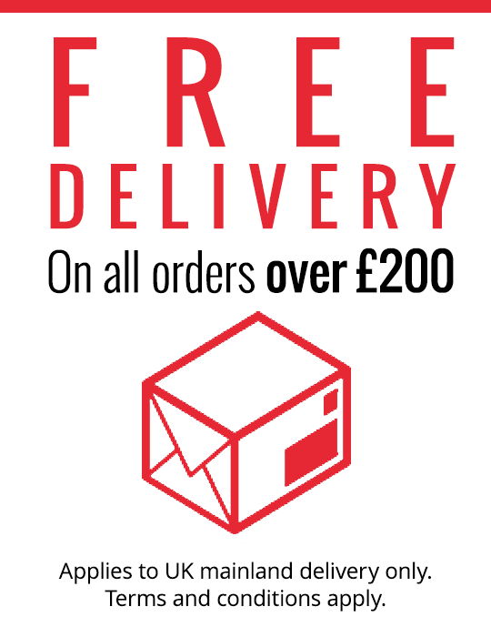 Free shipping on orders over £200
