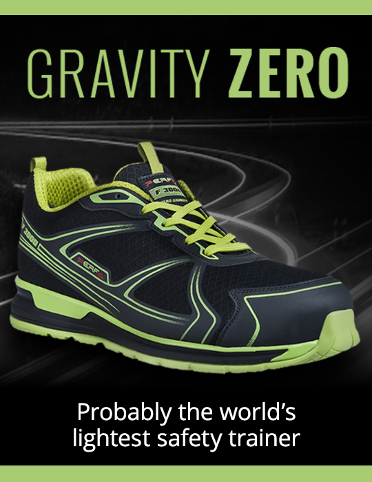Gravity Zero - Probably the world's lightest safety trainer