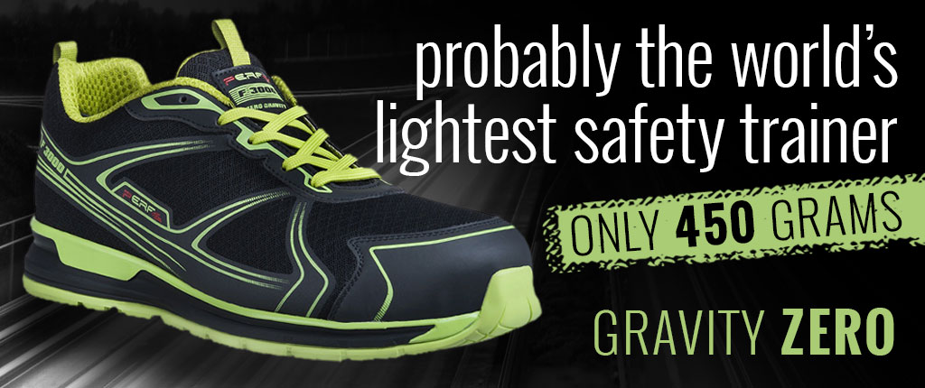 The world's lightest safety trainer - Gravity Zero